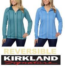 Kirkland Signature Womem's Ladies Revirsible Jacket Warm Full Zip Variation NEW
