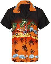LOUD MENS ALOHA HAWAIIAN SHIRT HAWAII HOLIDAY BEACH STAG SUMMER CLASSIC CAR UK