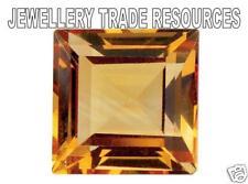 NATURAL CITRINE 5x5mm SQUARE PRINCIPESSA CUT Gemstone GEM