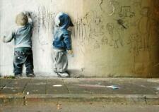 BANKSY - GRAFFITI KIDS  WALL POSTER URBAN ART  SZ: A2 A1 A0