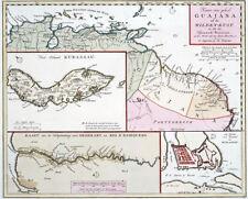 Reproduction carte ancienne - Guiana et Guyane en 1767