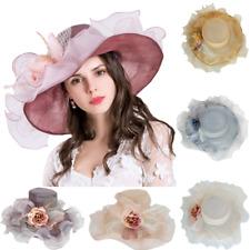 Elegante Sombrero Mujer organdí Nupcial organza para eventos boda colores NUEVO