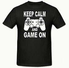 GAME ON PLAYSTATION BOY'S T SHIRT,AGES 3-15yrs, GAMER T SHIRT,(BLACK)T SHIRT