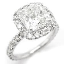 2.85CT CUSHION CUT DIAMOND ENGAGEMENT RING C11 ANTIQUE STYLE HALO ETERNITY