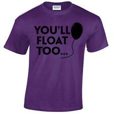 You ' Ll Flotador Too Camiseta Hombre It Payaso Globo Pennywise Horror Película