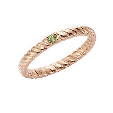 Jamelli Ring 925/- Sterling Silber Peridot hellgrün Damen Strukturiert NEU