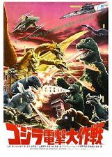 Destruya a todos monstruos! Japanese Kaigu Godzilla 1968 Película Arte Cartel A3 RE IMPRESIÓN