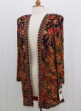 """Jasdee Vintage Jacket 32""""Length HandWork Bead & Sequins HandPrint On Silk # 6100"""