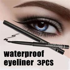 3x Kohl Black Eyeliner Pencil Eye Liner Rotary Retractable Makeup A&E vitamin UK