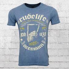 Yakuza Premium Herren Vintage T-Shirt Bullet Hand blau Männer Tshirt Vin 101