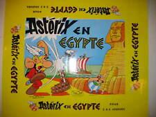 AFFICHETTE ASTERIX EN EGYPTE   JEUX NOEL 1970  FORMAT 44 X 36 cm
