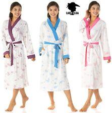 Lady olga Jersey Ladies dressing gown Nightwear Pink Blue Purple sizes 10 to 24