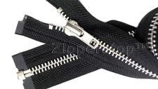 Heavy Weight Jacket Zipper YKK #7 Aluminum, Antique Brass, Brass Separating  USA