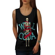 Wellcoda Anatomy Skeleton Womens Tank Top, Fashion Athletic Sports Shirt