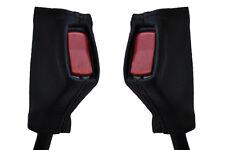 black stitch FITS TRIUMPH DOLOMITE 72-81  2X FRONT SEAT BELT LEATHER COVERS