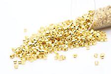 Miyuki Delicas 11/0 Duracoat Galvanized 24K Yellow Gold Plated Seed Beads DB-031