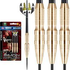 22g 24g Winmau Simon Whitlock Brass Darts, Winmau Rhino Flights, Stems & Case