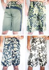 """Para Hombre Surf / Board Shorts """"Double Duck"""" en verde khaki Negro Surfista Vacaciones De Verano,"""