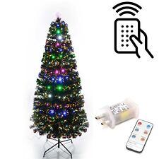LED Fibre Optic Remote Controlled Christmas Tree Pre Lit Xmas Home Decorations