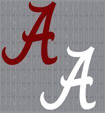 """2 Alabama Crimson Cornhole Decals LARGE 12x12.5"""" Baggo Bean Bag Toss Stickers"""