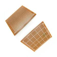 One Side PCB Board 5cm x 7cm Prototype Bakelite Stripboard Drilled Hole 2.54mm