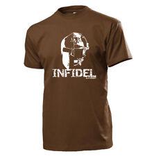 Infidel Spata casco ejército alemán US Army soldado cabeza combatientes guerreros t shirt #18371