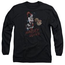 Justice League Harley Hammer Mens Long Sleeve Shirt Black