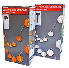 Dekorative LED Solar-Lichterkette Solar-Laternenkette mit 8 Laternen 3,8m
