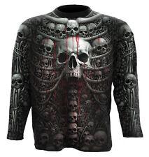 Spiral Direct DEATH RIBS Allover Long Sleeve T-shirt/Biker/Skull/Reaper/Tee/Top