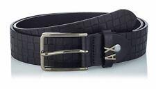 Armani Exchange men's check belt AX metal Logo - Made in Italy