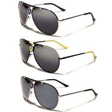 Khan Mirrored Men's Aviator Sunglasses Retro Pilot Vintage Glasses Black White
