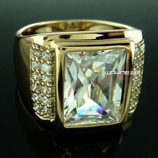 18k Yellow Gold Filled  Men's Wedding Ring Lad diamond R199 SIZE Q-Z+5 R199