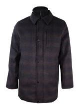 Calvin Klein Men's Layered Textured Pattern Car Coat