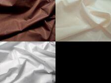 Stoffe Satin Dekostoff Viscose-Satin Meterware 220 cm breit Braun Creme Weiß