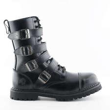 Grinders Quad CS Black 14 Eyelet Quad Buckle Unisex Safety Steel Toe Derby Boot