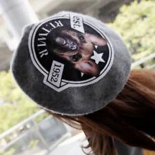Brand New Designer Look Ladies Womens French Bulldog Grey Woolen Beret Hat Cap