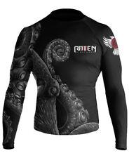 Raven Fightwear Men's Kraken Octopus Ibjjf Approved Rash Guard Black