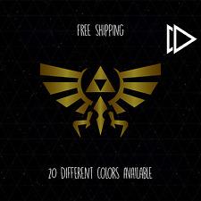 Legend of Zelda Triforce Wing Crest Vinyl Decal Sticker Car Laptop - Nintendo