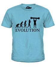 LOG PRESS EVOLUTION KIDS T-SHIRT TEE TOP GIFT STRONGMAN STRONGEST