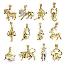 Sternzeichen Anhänger 585 Gold Tierkreiszeichen Horoskop 14 Karat Kettenanhänger