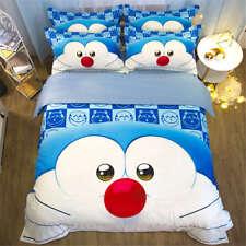 Fat Blue Cute Doraemon 3D Digital Print Bedding Duvet Quilt Cover Pillowcase