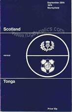 Escocia / Tonga 1974 Rugby programa