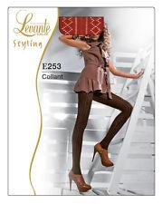 Collant 60 den LEVANTE lavorato nero viola fantasia moda E253