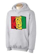 LION OF JUDAH FLAG HOODIE - rasta, reggae, bob marley, cannabis, marijuana