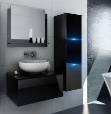 Badezimmer Badmöbel Waschbeckenschrank ohne Waschbecken Schwarz Hochglanz Like
