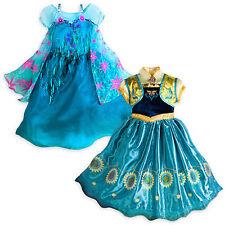 NEW Disney Store Frozen Fever Queen Elsa or Anna Princes Costume 4 5/6 7/8 9/10