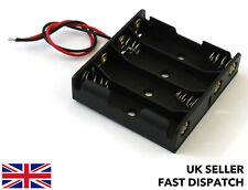 Battery Box/Holder/Case/Pack for 4xAA 6v DC JR/JST/Futaba/DC Socket/Croc clips