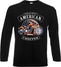 Maniche lunghe/Camicia A Maniche Lunghe con Motociclista Chopper Oldscoolmotiv