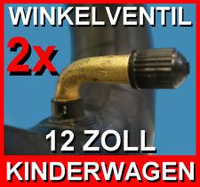 2x TOP SCHLAUCH 12 1/2 x 2 1/4 Winkelventil für Kinderwagen Reifen Buggy Roller