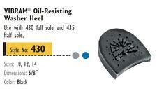 VIBRAM #430 Oil-Resisting Heel 1 PAIR- Shoe Repair
